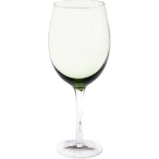 Glass Stemware Olive Green White Wine Glasses (Set of 4)