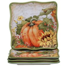 "Botanical Harvest 10.5"" Dinner Plate (Set of 4)"