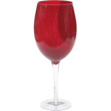 Glass Stemware White Wine Glass in Ruby (Set of 4)