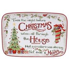 The Night Before Christmas Rectangular Platter