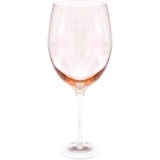 Glass Stemware 20 Oz. Peach White Wine Glasses (Set of 4)
