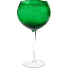 Glass Stemware Red Wine Glass in Green (Set of 4)