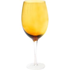 Glass Stemware Dark Amber White Wine Glasses (Set of 4)