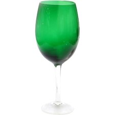 Glass Stemware Green White Wine Glasses (Set of 4)
