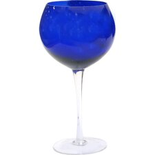 Glass Stemware Red Wine Glass in Cobalt (Set of 4)