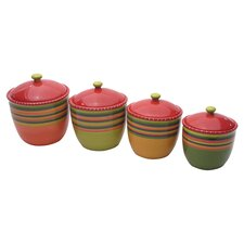 Hot Tamale 4-Piece Canister Set with Lid