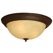 Umber Etched Large 3 Light Flush Mount