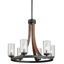 Grand Bank 6 Light Candle Chandelier