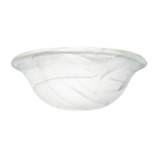 "11"" Al Swirl Universal Glass Bowl"