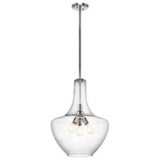 Everly 3 Light Schoolhouse Pendant