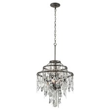 Bistro 6 Light Crystal Chandelier