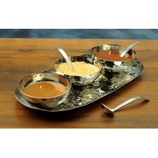 Silom 7 Piece Condiment Server Set