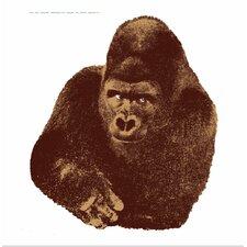 Seria della Natura Il Gorilla--Gorilla 1976 Silkscreen by Enzo Mari Graphic Art