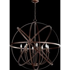 Celeste 8 Light Candle Chandelier