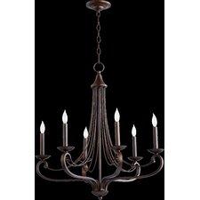 Lariat 6 Light Candle Chandelier