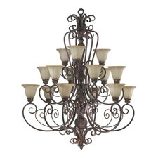 Coronado  15 Light Chandelier in Gilded Bronze