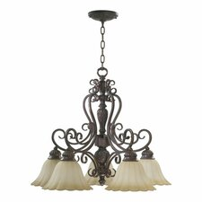 Coronado 5 Light  Nook Chandelier in Gilded Bronze
