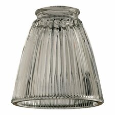 Clear Ribbed Bell Glass Shade
