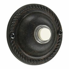 Traditional Round Door Chime Button in Toasted Sienna
