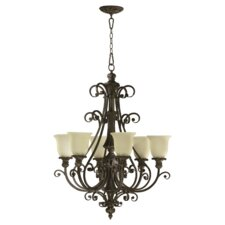 Fulton 6 Light Chandelier with Scavo Glass Shade
