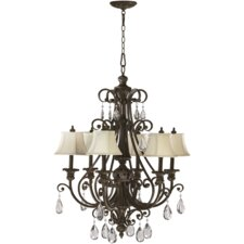Fulton 6 Light Chandelier with Cream Shade
