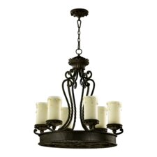 Alameda 6 Light Chandelier with Scavo Glass Shade