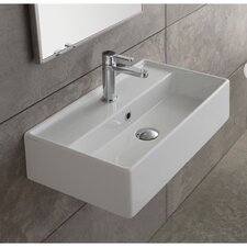 Teorema Ceramic Wall Mounted Vessel Bathroom Sink