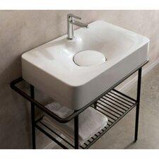 Fuji Ceramic Wall Mounted Vessel Bathroom Sink