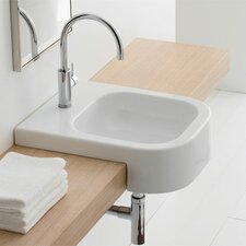 Next Semi Recessed Single Hole Bathroom Sink