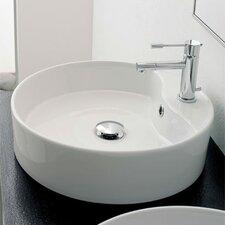 Geo Above Counter Single Hole Bathroom Sink
