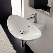Zefiro Wall Mounted Bathroom Sink
