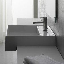 Teorema Semi Recessed Single Hole Bathroom Sink