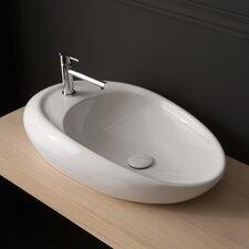 Moai Vessel Bathroom Sink with Single Faucet Hole