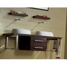 "Brio 47"" Double Wall Mounted Bathroom Vanity Set"