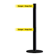 "Dual Line Advance Tensabarrier Basics Base in Pre-Printed ""Danger-Keep Out"" Belt"