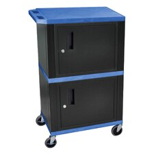 Mobile Printer Stand with Cabinet Storage