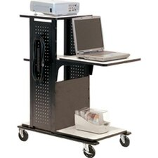 4-Shelf Mobile Presentation Station AV Cart