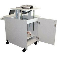 5-Shelf Presentation Station AV Cart with Cabinet