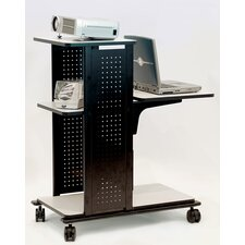 4-Shelf Presentation Station AV Cart with Cabinet