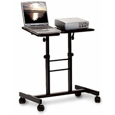 Mobile Laptop Presentation AV Cart with Dual Adjustable Platforms