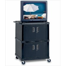 Tuffy Mobile Dual Cabinet AV Cart