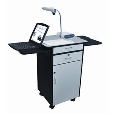 Multi-Media Work Center AV Cart with Lockable Storage