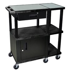 Tuffy Presentation Station 70 Series AV Cart with Drawer Cabinet