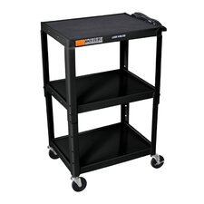 Open Shelf Metal AV Cart