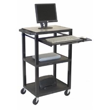 Tuffy Three Shelf Computer Workstation AV Cart