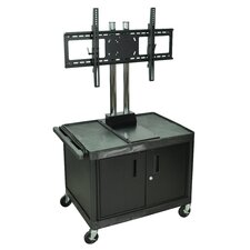 Tuffy Mobile Flat Panel AV Cart with Locking Cabinet
