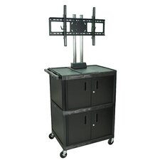 Tuffy Mobile Flat Panel AV Cart with Cabinet
