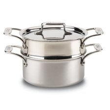 d5 Brushed Stainless 3-qt. Multi-Pot with Lid