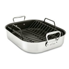 "13"" Large Non-Stick Roaster with Rack"