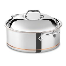 6-qt. Copper Round Roaster Braiser with Lid